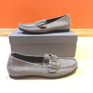 AGL shimmer suede loafers